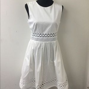 Ted Baker White Cotton  Dress